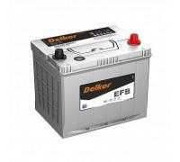 Автомобильные аккумуляторы DELKOR EFB 95D23L обр 70Ач EN660А о.п. (230х172х200) Обратная полярность