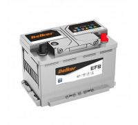 Автомобильные аккумуляторы DELKOR EFB LN3 70.0 обр 70Ач EN720А о.п. (278х175х190) Обратная полярность