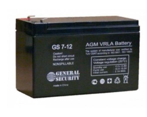 Аккумулятор 12В 7,2 А/ч GS