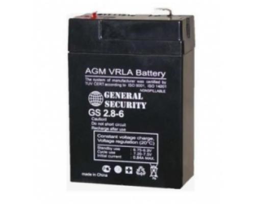 Аккумулятор свинцово-кислотный  6В 2.8 А/ч