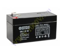 Аккумулятор 12В 1,2 А/ч GS  ( 24шт/коробка)
