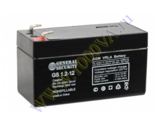 Аккумулятор 12В 1,2 А/ч GS