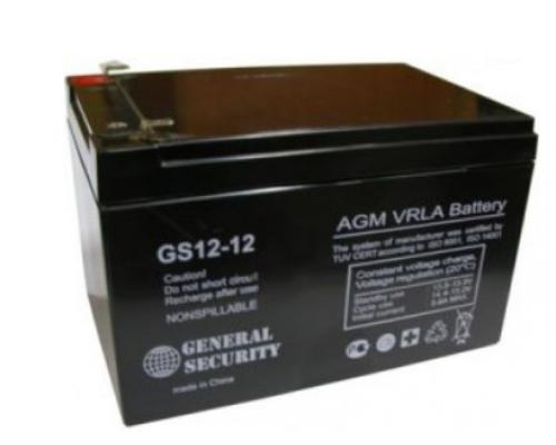 Аккумулятор 12В 12А/ч GS